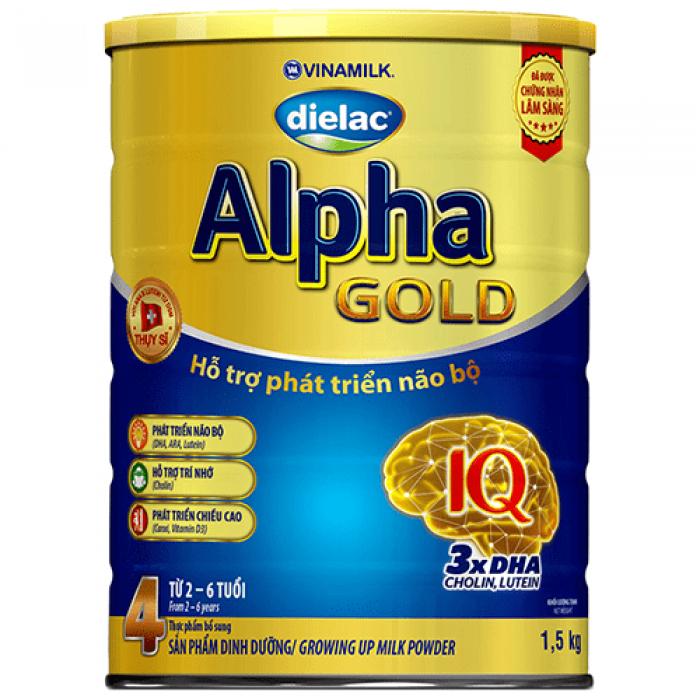 Sữa bột Dielac Alpha Gold IQ Step 4 900g
