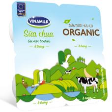 Sữa chua ăn ít đường từ sữa tươi Organic - Vỉ 4 hộp x 100g