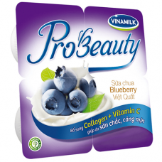Sữa chua ăn Probeauty vị việt quất- 4 hộp 100g